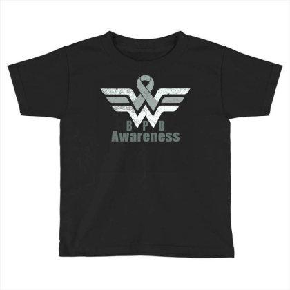 Borderline Personality Disorder (bpd) Gray Awareness Ribbon Toddler T-shirt Designed By Hatta1976