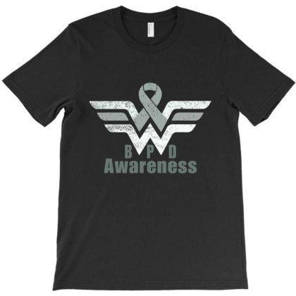 Borderline Personality Disorder (bpd) Gray Awareness Ribbon T-shirt Designed By Hatta1976