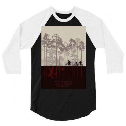 Stranger Things 3/4 Sleeve Shirt Designed By Manisah