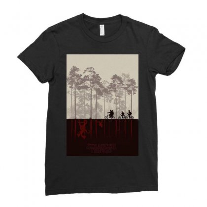 Stranger Things Ladies Fitted T-shirt Designed By Manisah