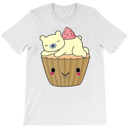 Cool Polar Bear Cupcake T Shirt T-shirt Designed By Rs Shop