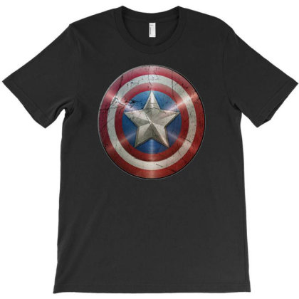 Cotton Captain America Shield Distressed, Ideal Gift Or Present T-shirt Designed By Rs Shop