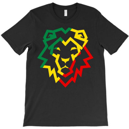 Lion Reggae Ska Rocksteady T-shirt Designed By Rogerjknutson
