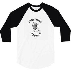 native american warrior 3/4 Sleeve Shirt | Artistshot