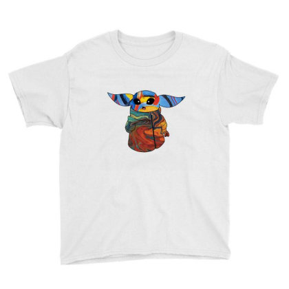 Baby Yoda Abstract Youth Tee Designed By Lerosedeals