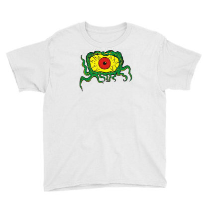 Crawling Eye Monster Youth Tee Designed By Toldo