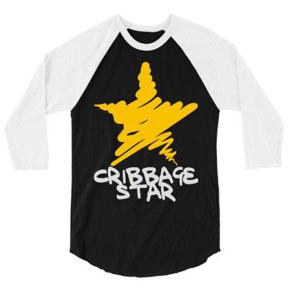 Cribbage Star 3/4 Sleeve Shirt Designed By Toldo