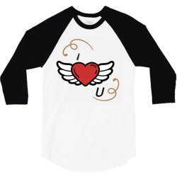 I love you 3/4 Sleeve Shirt | Artistshot