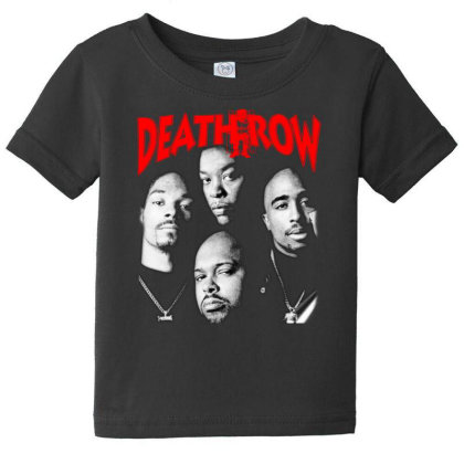 Death Row Snoop Dog Dr Dre Suge Knight 2pac Baby Tee