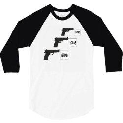 three gun bangs 3/4 Sleeve Shirt | Artistshot