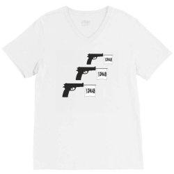 three gun bangs V-Neck Tee | Artistshot