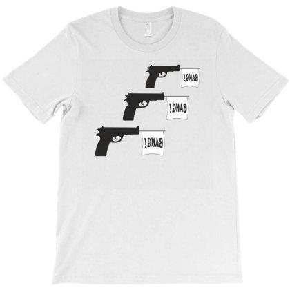 Three Gun Bangs T-shirt Designed By Artefact33