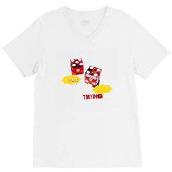 dice poker deal V-Neck Tee   Artistshot
