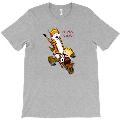 Calvin Hobbes Forever T-shirt Designed By Bobbylrobbins