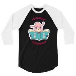 funny llama clever animal 3/4 Sleeve Shirt   Artistshot