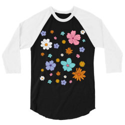 Abstract Floral Pattern 3/4 Sleeve Shirt | Artistshot