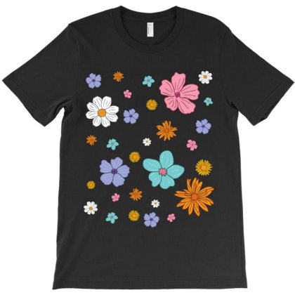 Abstract Floral Pattern T-shirt Designed By Hello Asa