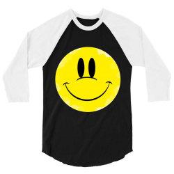 Smile Face 3/4 Sleeve Shirt   Artistshot