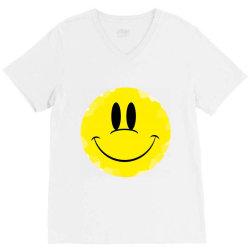 Smile Face V-Neck Tee   Artistshot