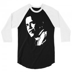 stencil barak obama t shirt funny 3/4 Sleeve Shirt   Artistshot