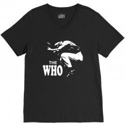 the who stencil V-Neck Tee | Artistshot