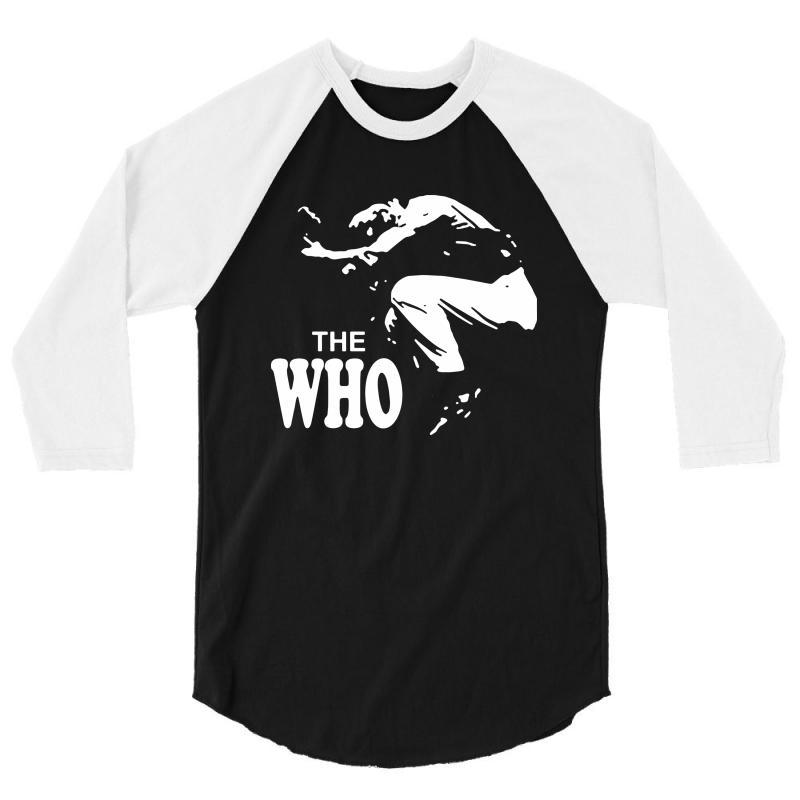 The Who Stencil 3/4 Sleeve Shirt | Artistshot