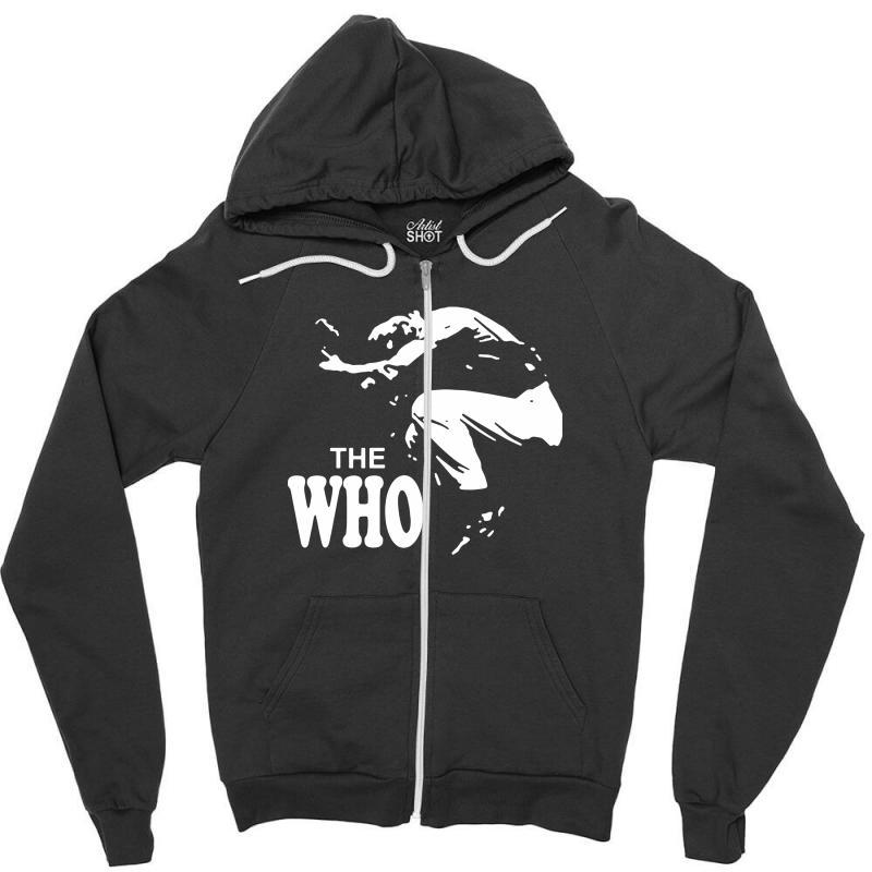 The Who Stencil Zipper Hoodie   Artistshot