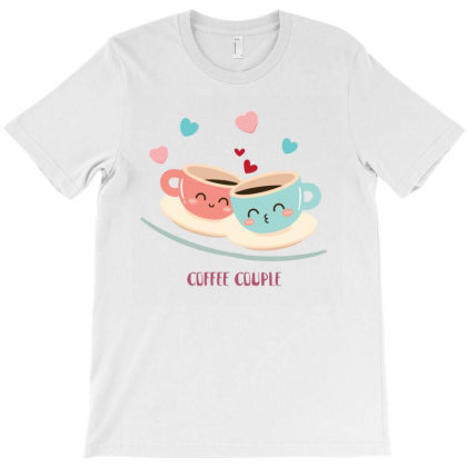 Coffee Couple Love T-shirt Designed By Artefact33