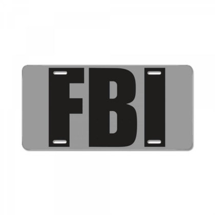 Fbi License Plate