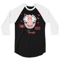 happy llama 3/4 Sleeve Shirt | Artistshot