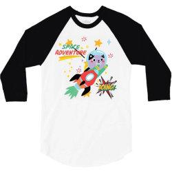 cat space adventure 3/4 Sleeve Shirt   Artistshot