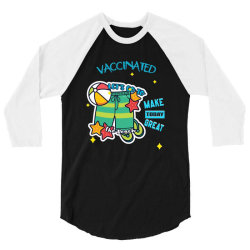 vaccinated lets go to the beach 3/4 Sleeve Shirt   Artistshot