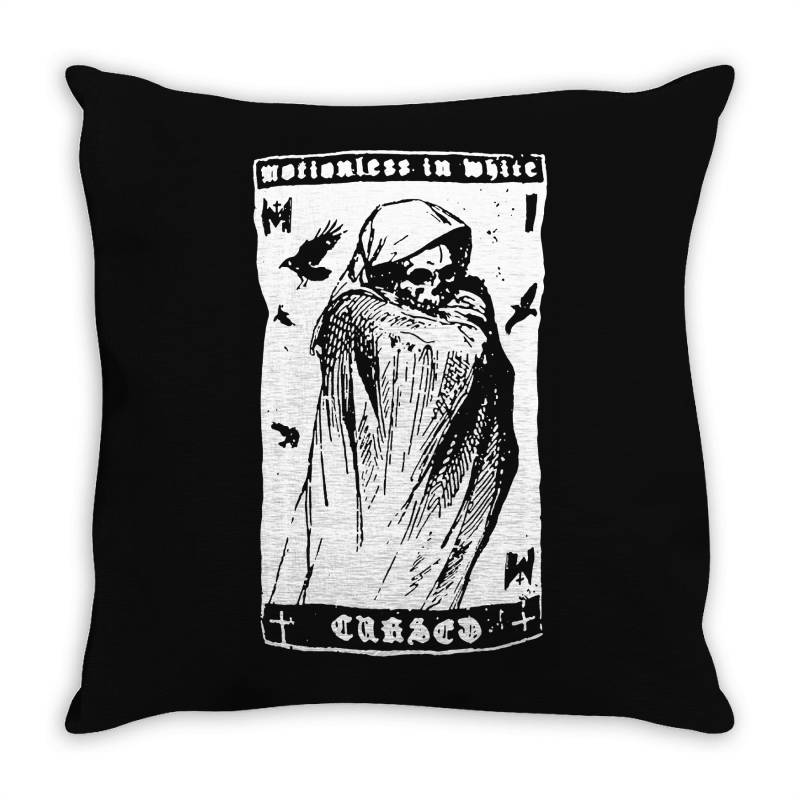 Band Metal With Grim Reaper Throw Pillow | Artistshot