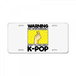 music lover korean License Plate | Artistshot