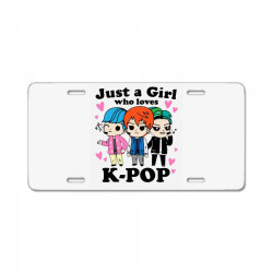 korean pop just a girl who loves License Plate | Artistshot