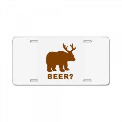 macs bear License Plate | Artistshot