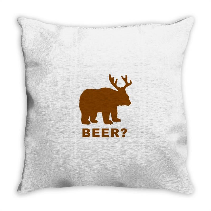 Macs Bear Throw Pillow | Artistshot