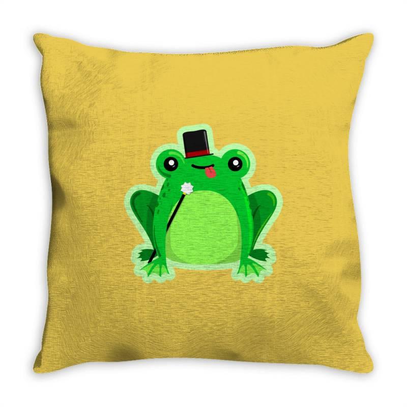 Mr Amfibi Frog Throw Pillow | Artistshot