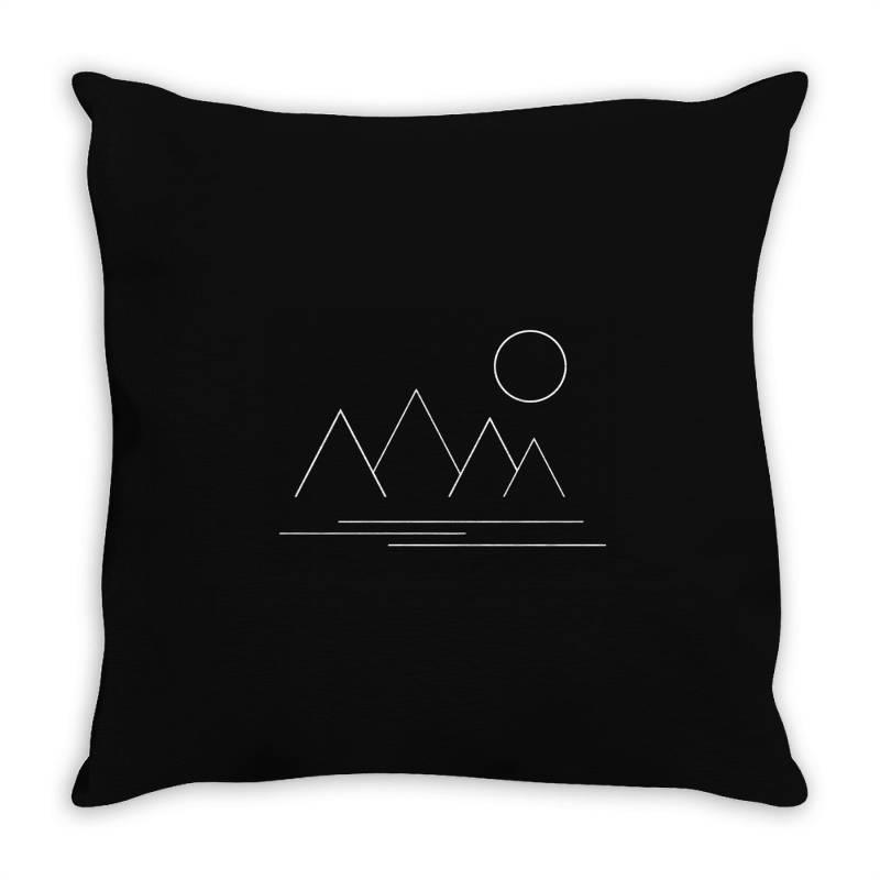 Mountains And Sun Throw Pillow   Artistshot