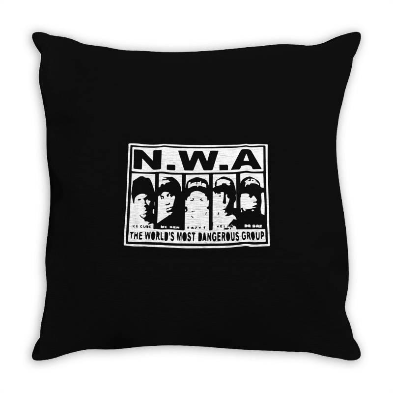 N W Hip Hop Throw Pillow | Artistshot