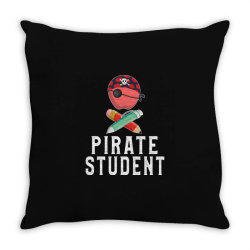 pirate student funny halloween party gift for kids students Throw Pillow | Artistshot
