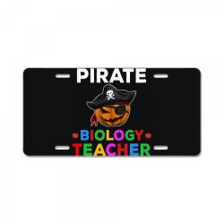 pirate teacher funny halloween gift for biology teacher cute License Plate | Artistshot