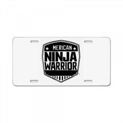 american ninja warrior License Plate | Artistshot