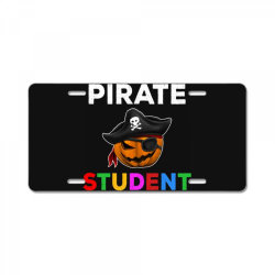 pirate student funny halloween party gift for school student License Plate | Artistshot