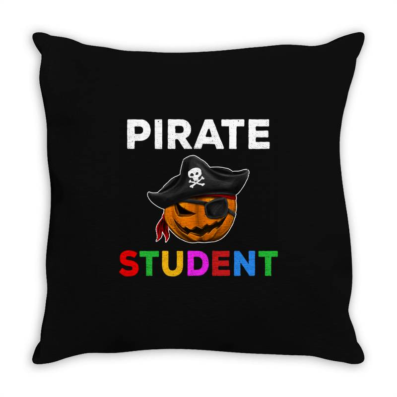Pirate Student Funny Halloween Party Gift For School Student Throw Pillow | Artistshot