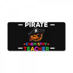 pirate teacher funny halloween gift for chemistry teacher License Plate | Artistshot