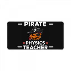 pirate physics teacher funny halloween License Plate | Artistshot