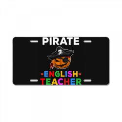 pirate teacher funny halloween gift for english teacher License Plate | Artistshot