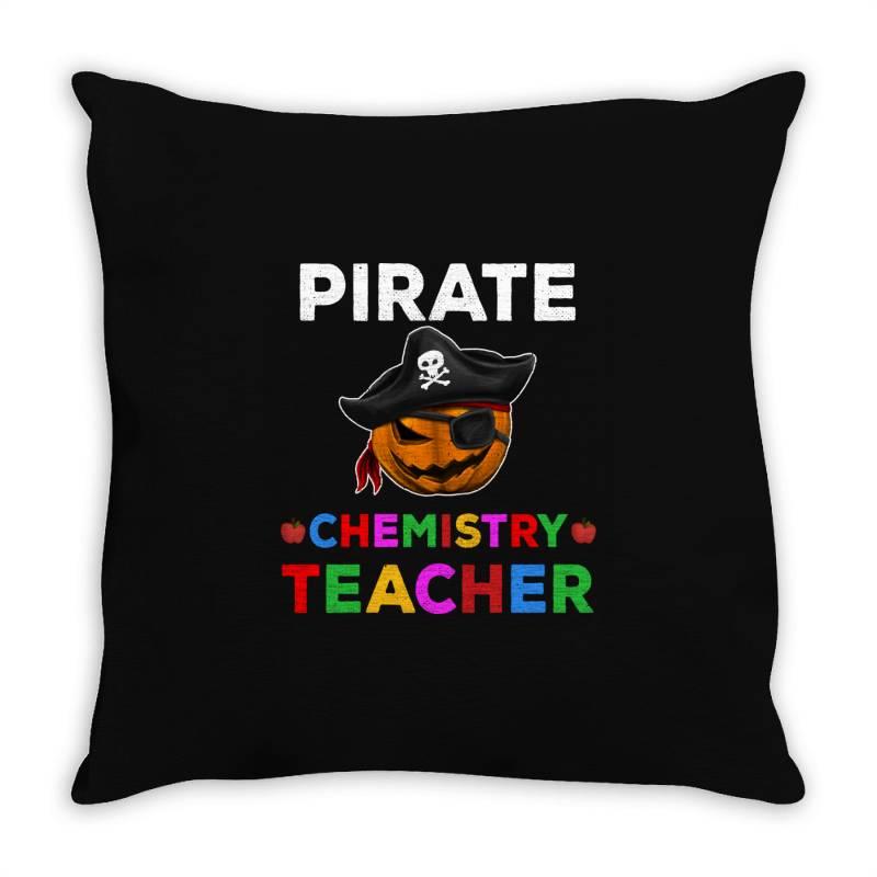 Pirate Teacher Funny Halloween Gift For Chemistry Teacher Throw Pillow | Artistshot