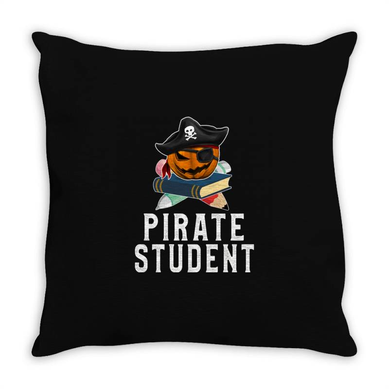 Pirate Student Funny Halloween Party Gift For Kids School Throw Pillow | Artistshot